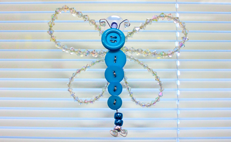 Button Crystal Dragonfly