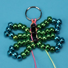 How to make a metallic pony bead dragonfly