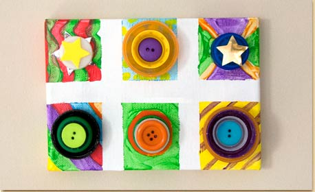 Collage Art with Bottle Caps