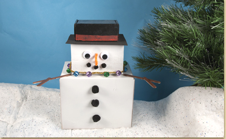 Recycled Box Snowman