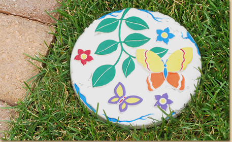 Butterfly Garden Stepping Stone