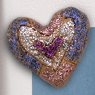 Glittered Clay Hearts