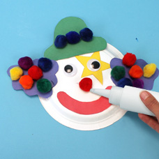 clown craft for preschoolers