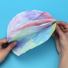 How to watercolor coffee filter flowers