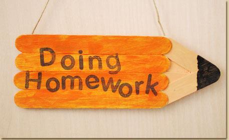 Homework Pencil Door Hanger