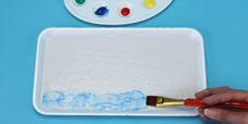 Kids craft fresco paint