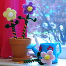 Fuzzy Flower Pencil Toppers