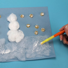 Snowman Glitter Collage for Kids