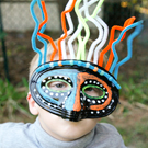 Glow in the Dark African Inspired Tribal Mask