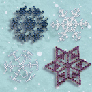 Melty Bead Snowflakes