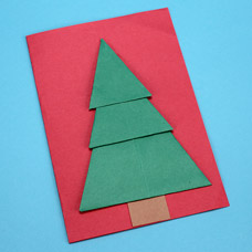 Paper Folded Christmas Card