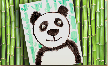 Panda Art with Texture Techniques