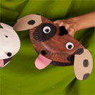 Paper Plate Puppy Puppet