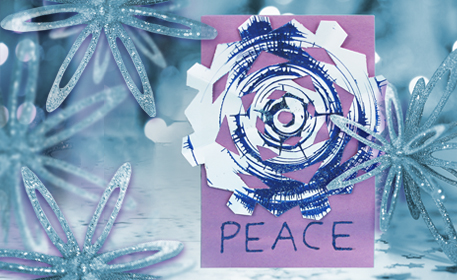 Spin Art Snowflake Card