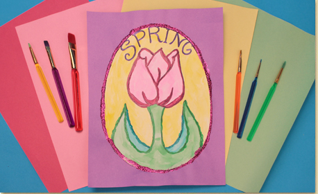 Spring Tulip Painting with Free Printable