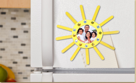 Jeweled Sun Picture Frame
