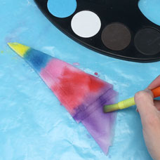 how to tie dye paper