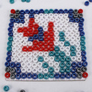 Beaded Mosaic Inspired by Turkish Tile