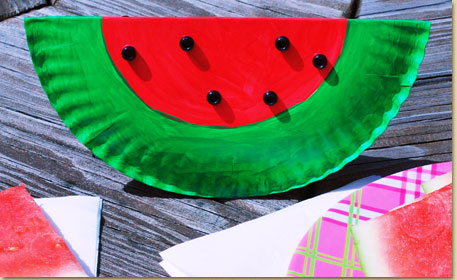 Watermelon Paper Plate Art
