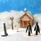 Winter Animal Clothespin Dolls