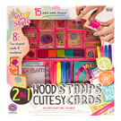 Just My Style™ 2-in-1 Wooden Stamps & Cutesy Cards