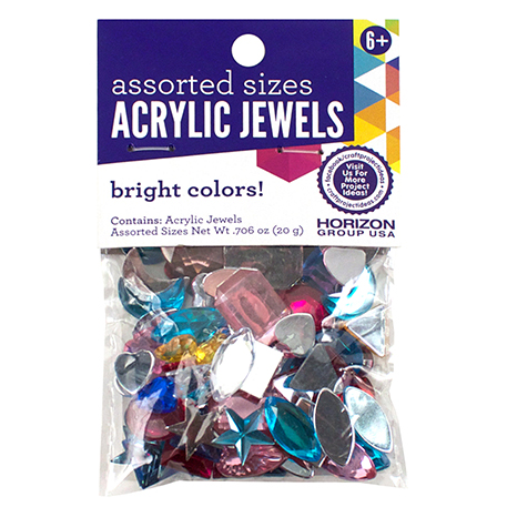 Acrylic Jewels Assorted Colors