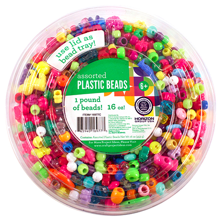 Plastic Beads Tub