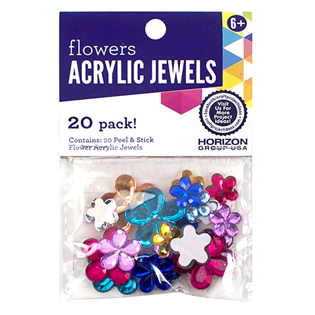 Peel & Stick Flower Acrylic Jewels