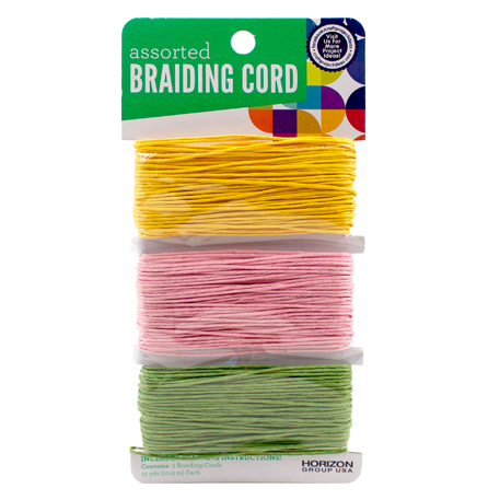Pink, Orange, Lime Braiding Cord