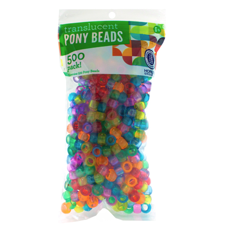 Translucent Pony Beads