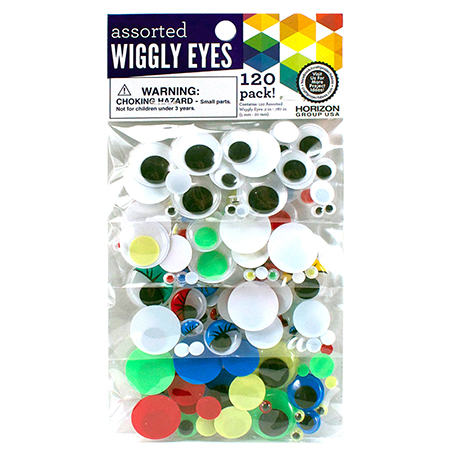 Wiggly Eyes Assorted Sizes and Colors