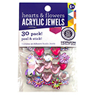 Peel & Stick Heart & Flower Acrylic Jewels