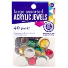 Acrylic Jewels Assorted 18mm