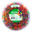 Translucent Pony Beads Tub