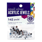 Silver Acrylic Jewels 5mm
