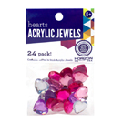 Peel & Stick Heart Acrylic Jewels