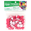 Pink Alphabet Foam Stickers