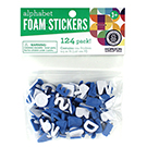 Blue Alphabet Foam Stickers