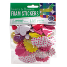 Heart & Flower Foam Stickers