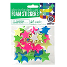 Glow in the Dark Foam Star Stickers
