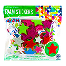 Glitter Foam Star Stickers Value Pack
