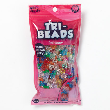 Tri-Beads Translucent Rainbow