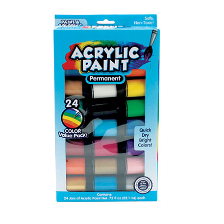 Acrylic Paint Jars 24 Pack