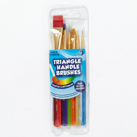 Paint Brushes 6 Pack Triangle Handle