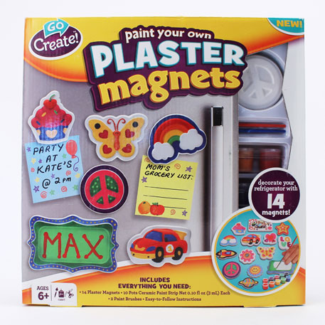 Go Create™ Paint Your Own Plaster Magnets