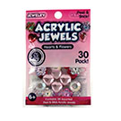 Acrylic Jewels Peel & Stick Heart & Flowers