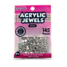 Acrylic Jewels 5mm Silver