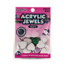 Acrylic Jewels Peel & Stick Hearts