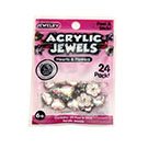 Acrylic Jewels Peel & Stick Clear Hearts and Flowers