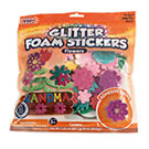 Glitter Foam Stickers Flowers